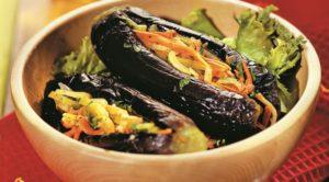 Баклажаны, фаршированные овощами на зиму с морковью