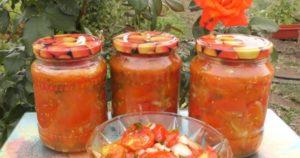 Быстрый рецепт салата из помидоров, перца и капусты на зиму