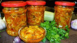 Кабачки на зиму в томатном соусе