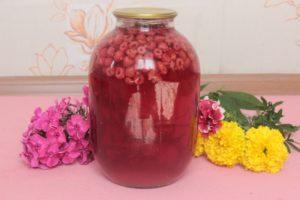 Оригинальный компот из малины на зиму с вином