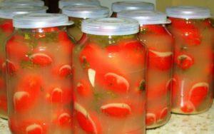Солёные помидоры на зиму без варки с горчицей