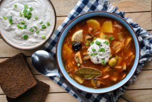 Суп-солянка - подготовка продуктов